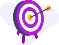 Illustration d'une flèche tirée dans le mille d'une cible