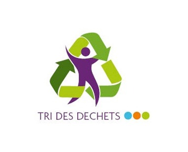 Illustration du tri des déchets