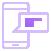Icône représentant un smartphone affichant la bulle d'un message reçu